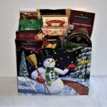 snowman gift box basket