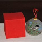 MAINE chickadee holiday ornament