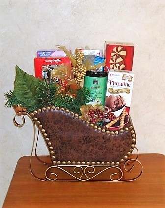 chocolate and cookie sleigh
