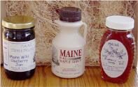 gift of maine, jam, honey and maple syrup