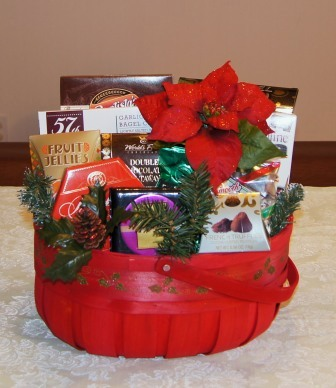 holly berry gift basket