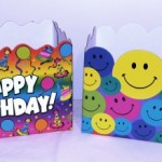 happy birthday and smiley face boxes