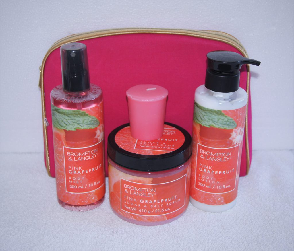 brompton and langley pink grapefruit or mango bath and body set