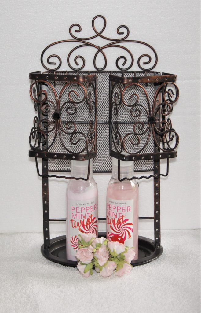 jewelry holder with bath and body products