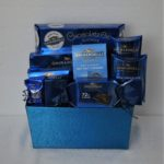 ghiradelli chocolate basket in blue